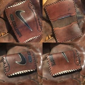 Handmade Leather Wallet Nike Collegiate Football
